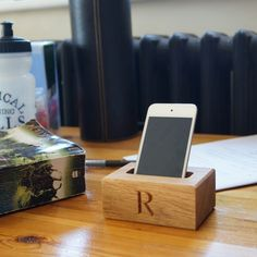 Personalised Wooden Phone Holder Price € 23.00