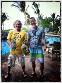 Sammy Hagar & James Hetfield. Hey Sammy...like your pineapples ;) giggity!