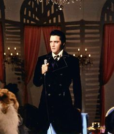 Elvis in june 1968 taping his NBC t-v special.