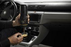 Handpresso Auto | Portable Espresso Machine for the Car. Read more at jebiga. com #design #handpresso #carespresso #coffee