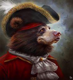 bear fantasy art | Frenchie Picture (big) by Tyler Bolyard Tyrassic