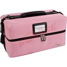 "16 inch Pink Soft Heavy Duty Nylon Makeup Bag Cosmetic Organizer Train Case w/Detachable Shoulder Strap by Sunrise. $65.50. Detachable shoulder strap.. Heavy Duty 1680D Nylon. Overal case dimensions: 16"" L x 8"" W x 9"" H. Dual 2 tier extendable trays with multiple compartments.. Two side snaps for extra security.. This makeup organizer is both trendy and functional.  Made with heavy duty 1680D Nylon sides and durable vinyl trays, this cosmetic train case is built to..."