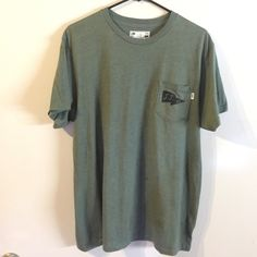 joel tudor x vans green tee vans collab tee with vans surfer joel tudor! dark first green with black graphics. in excellent used condition. men's large, but i wear it as an oversized tee and I'm a women's large/XL. Vans Tops Tees - Short Sleeve