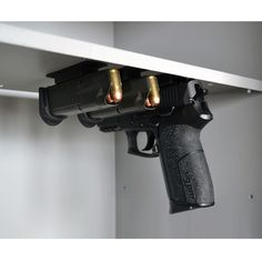 Multi-Mags organize and efficiently store metal magazines and most semi-automatics.  Mount under wood or metal shelves and vertically on metal walls.  Magnetic strength is effective with fully loaded magazines.
