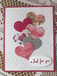- - Best Picture For diy anniversary scrapbook For Your Taste You are looking for something, and it is going to tell you exactly what you Valentines Day Cards Handmade, Valentine Crafts, Greeting Cards Handmade, Homemade Valentine Cards, Stamping Up Cards, Paper Cards, Creative Cards, Anniversary Cards, Scrapbook Cards