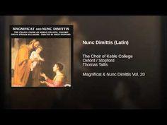 Nunc Dimittis (Latin) - YouTube