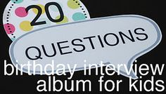Starting at age every year on their birthday you ask the same questions. see how their answers change over the years! Add a pic and make a book out of it. 20 questions* : What is your favorite toy? What do you want to be when you grow up? 20 Questions, This Or That Questions, Interview Questions, Adaline, Just In Case, Just For You, For Elise, Book Making, Little People