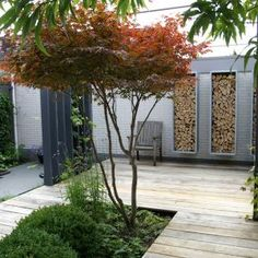 Tuin tuin tuin Back Garden Design, Backyard Garden Design, Modern Landscaping, Backyard Landscaping, Contemporary Landscape, Landscape Design, Garden Yard Ideas, Back Gardens, Garden Styles