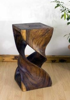"""Double Twist Stool 12"""" x 23"""" Walnut OIl Finish  Hand Carved Wood #Furniture $229.00    Glad so many of you like this. I sold 24 of them last May to be used in the Beautiful Creatures movie . . . Can't wait to see it just so I can see what I sold them in movie!"""