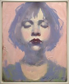 """Malcolm liepke, """"little pink girl"""" oil on canvas, 10 x 8 inches Figure Painting, Painting & Drawing, Painting Abstract, Acrylic Paintings, Painting Inspiration, Art Inspo, L'art Du Portrait, Portrait Paintings, Pencil Portrait"""