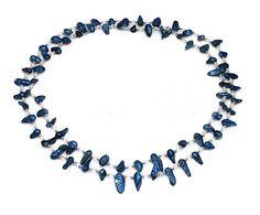 Kristall Süßwasserperlen Halskette, Natürliche kultivierte Süßwasserperlen, mit Kristall, Klumpen, natürlich, 6mm, Länge:23 Inch, verkauft per 23 Inch