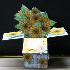 Card in a Box- Sunflowers
