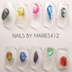 new!!!💅 #MARIES412 #fimeAn #nail #nail #art #nailart #instanail #nailstagram #ネイル #ジェルネイル #心斎橋 #ネイルサロン #大阪 #ネイリスト #手描き  #Handdrawing #girlythings #夏ネイル #天然石ネイル