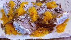 Ingredientes:   6 ovos  120gr de açúcar  100gr de farinha  Chocolate  Fios de Ovos  Recheio e Cobertura Ganache de Chocolate     Ingre...