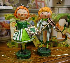 The new Lori Mitchell 2016 St. Patrick's figures, so cute aren't they!