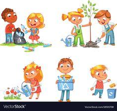 Ecological kids design funny cartoon character vector image on VectorStock Character Design Sketches, Character Design Cartoon, Character Design Animation, Character Design References, Character Design Inspiration, Warhammer 40k, Pixar, Boy Tumblr, Design Alien