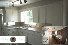 Always Nesting: From Rental to Reno Behr's Wheat Bread paint and DIY kitchen renovations on a tiny budget!