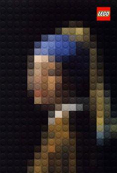 """Vermeer """"La joven de la perla"""" a lo LEGO"""