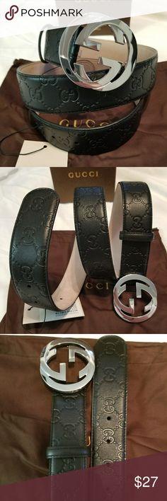 63f44d5624a 😎Authentic Gucci Belt Black Guccissima Supreme 😎Authentic Gucci Belt  Black Guccissima Supreme Print with