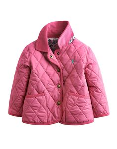 Pink Grapefruit Babymabel Classic Quilted Jacket | Joules US