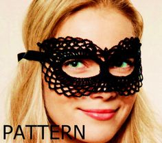 Pattern New year 2016 Crazy Masquerade Mask Elegant mask Party accessory Crochet mask sexy lace by CopperLife on Etsy