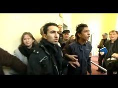 Afghanische Moslems rasten im Gericht aus und beschimpfen Deutschland - YouTube