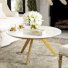 Mid-Century Modern Marble Table – Short - NEW
