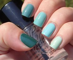 Life and Polish: Teal Ombre
