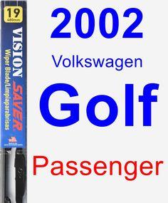 Passenger Wiper Blade for 2002 Volkswagen Golf - Vision Saver