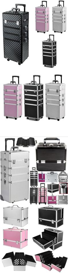 Makeup Bags and Cases: Aluminum 4 In1 Rolling Makeup Trolley Train Case Box Organizer Salon Cosmetic -> BUY IT NOW ONLY: $62.98 on eBay!