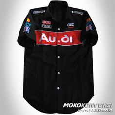 Baju Kemeja Terbaru Seragam Kru / Otomotif / Promosi audi racing team shirt