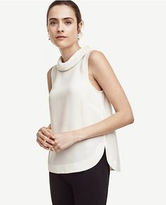 Primary Image of Matte Jersey Mock Neck Top