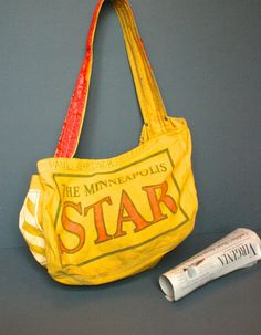 Vintage Newspaper Bag  The Minneapolis Star Newspaper