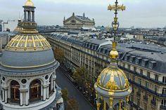"""Paris vu de haut : la terrasse du Printemps. Paris from the 9th floor of Printemps Haussmann, on the terrace of """"Deli-cious!""""."""