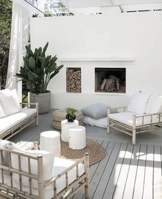 Terrasse Design, Patio Design, Exterior Design, House Design, Outdoor Rooms, Outdoor Living, Minimalist Dining Room, Outside Living, Home And Living