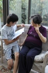 """Cross-curriculum activity: Practice interviewing skills/writing while acquiring a first-hand historical account. """"Students interviewing Grandparents"""""""