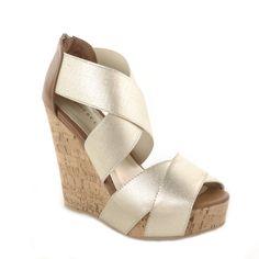DIG IT Metallic PRICE  $59.99        #wedge #fashion #shoe