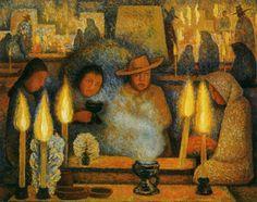 Fiesta de los muertos-Diego Rivera
