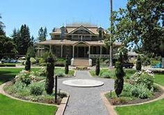 McDonald Mansion, Santa Rosa, California, (As it appears in 2010) Built in 1877, On the National Register of Historic Places - The McDonald Mansion, also known as Mableton, is an historic residence built as a summer home for the McDonald Family (whose primary home was in San Francisco). (Drove by this house several years ago, while it was undergoing extensive restoration. It is on a large square plot lined with trees.)