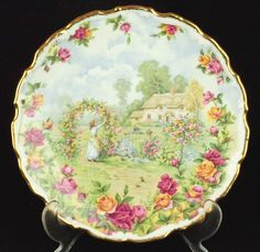 Royal Albert Celebration of the Old Country Roses Garden Plate VGC
