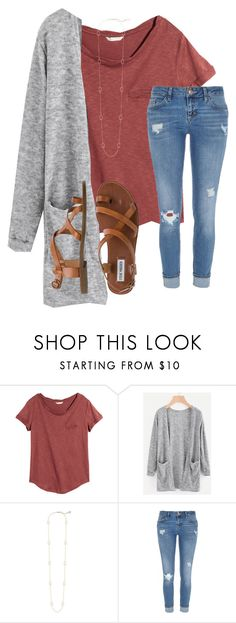"""Untitled #23"" by katielroberts on Polyvore featuring H&M, Kendra Scott, River Island and Steve Madden"