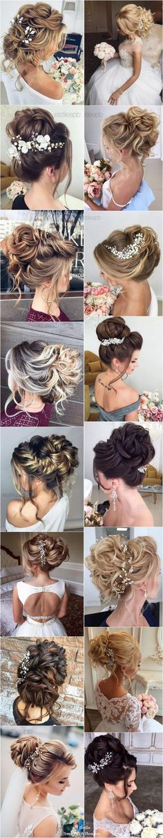 Best Ideas For Wedding Hairstyles : Elstile Long Wedding Hairstyle Inspiration / www. Hairdo Wedding, Elegant Wedding Hair, Wedding Hairstyles For Long Hair, Wedding Makeup, Crown Hairstyles, Vintage Hairstyles, Newest Hairstyles, Pretty Hair Color, Quinceanera Hairstyles