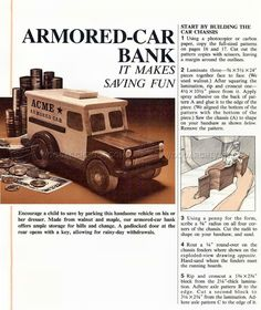 #1983 Wooden Armored Car Bank - Wooden Toy Plans