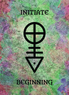 The Initiate (Beginning) image for the Transcendence Oracle™ card deck by Aethyrius.
