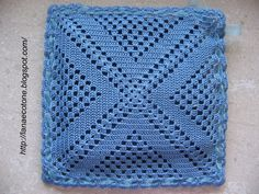 Crochet Ripple Blanket, Crochet Mat, Crochet Lace Edging, Crochet Square Patterns, Crochet Potholders, Crochet Pillow, Crochet Squares, Crochet Granny, Crochet Gifts