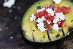 14 Avocado recipes - can't wait to try them all! (pic) grilled avocado with tomato and feta cheese