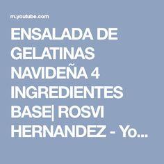 ENSALADA DE GELATINAS NAVIDEÑA 4 INGREDIENTES BASE  ROSVI HERNANDEZ - YouTube