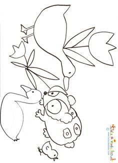 Worksheets swans and coloring pages on pinterest - Coloriage vilain petit canard ...