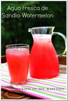 Aguas Frescas Pineapple, Watermelon and Cantaloupe Drinks