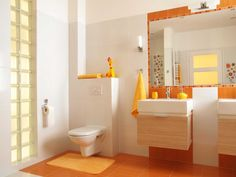 So bright color combination  #home #decor #design #bright #orange #flat #idea
